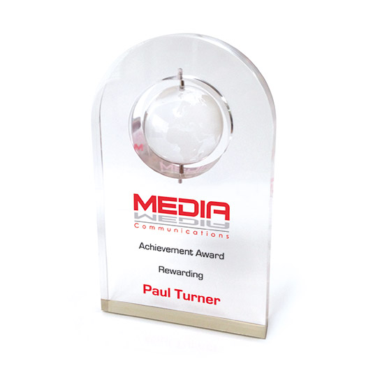 Acrylic Ronded plaque Award