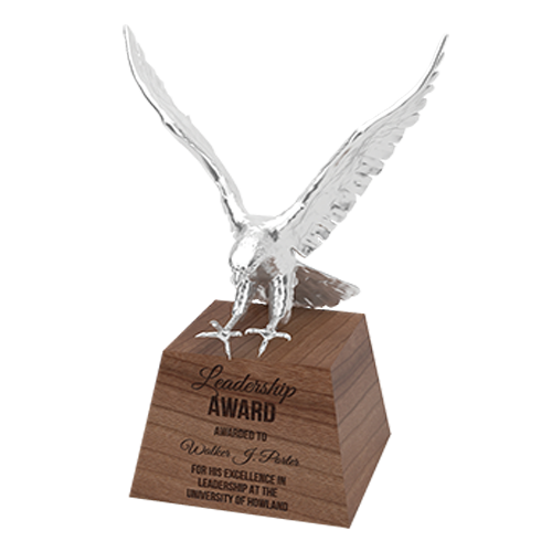 3D printed eagle on base (Leadership award)