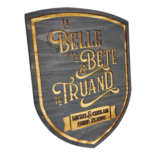 Custom wall plaque (Belle Truand)